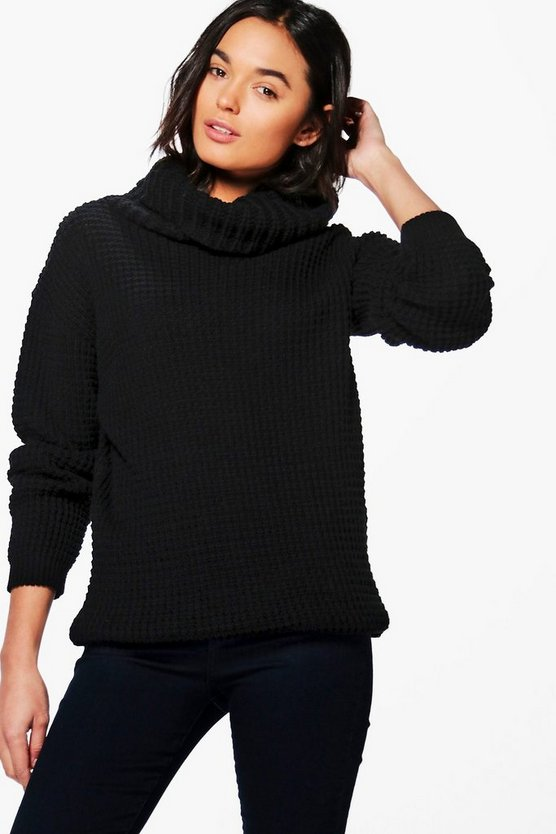 Rebecca Cowl Neck Oversized Boyfriend Jumper