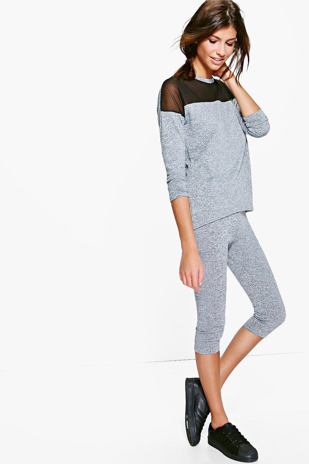 Niamh Sheer Insert Fine Knit Lounge Set