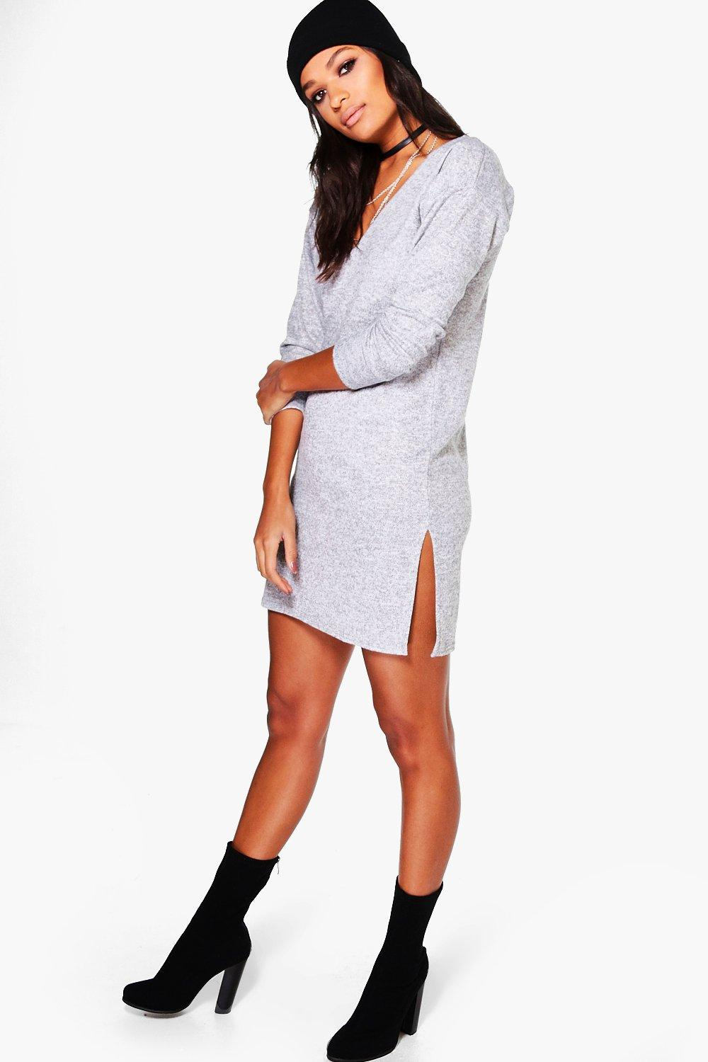 Lucy Brushed Knit Lounge Jumper Dress