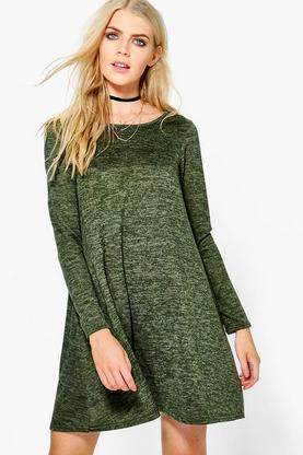 Alice Brushed Knit Swing Dress
