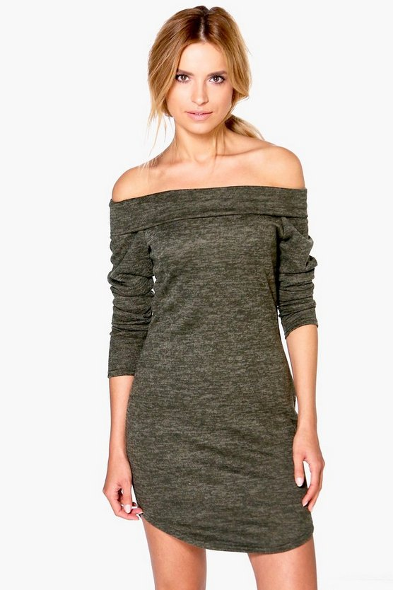 Milly Bardot Brushed Knit Jumper Dress