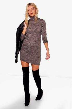 Florence Roll Neck Jumper Dress
