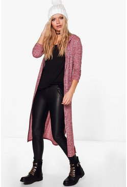 Heidi Side Split Hooded Cardigan