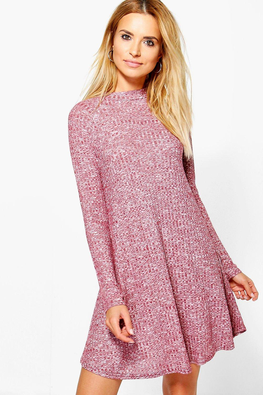 Brooke Rib Knit Swing Dress