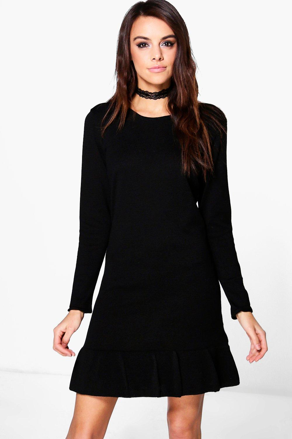 Rosie Ruffle Hem Knitted Dress