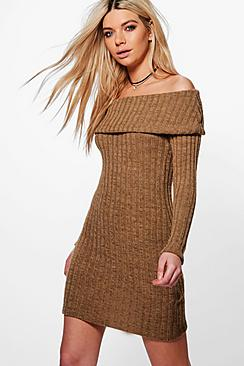 Caroline Off The Shoulder Jumper Dress