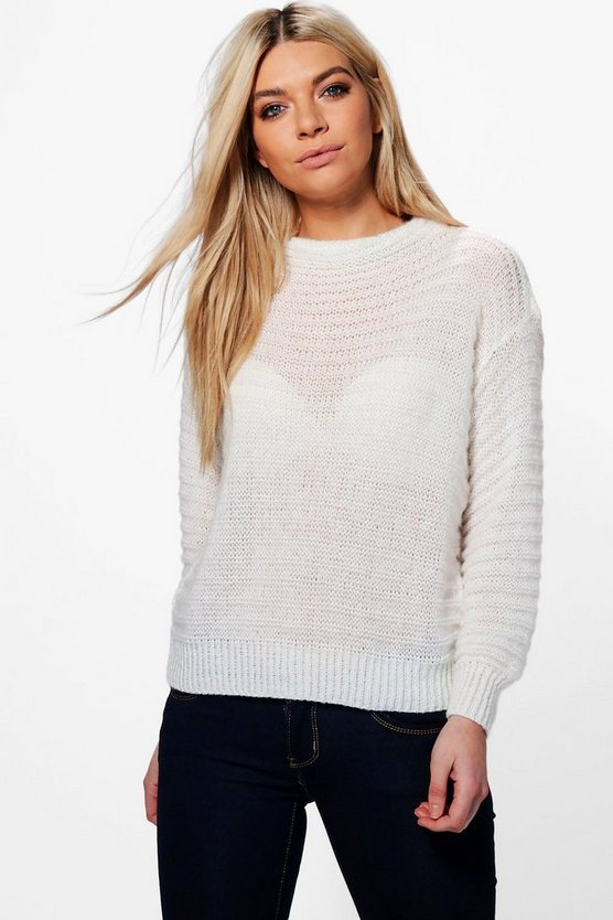 Jasmine Soft Knit Funnel Neck Jumper