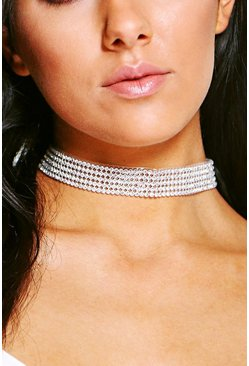 Thin Diamante Bling Choker