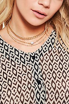 Multi Layered Diamante Chain Choker