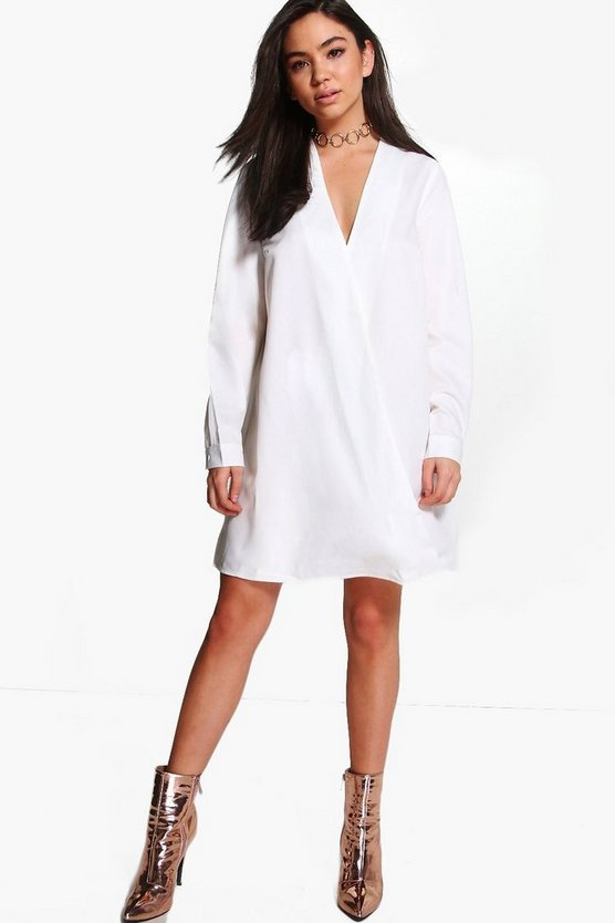 Soph Wrap Front Shirt Dress