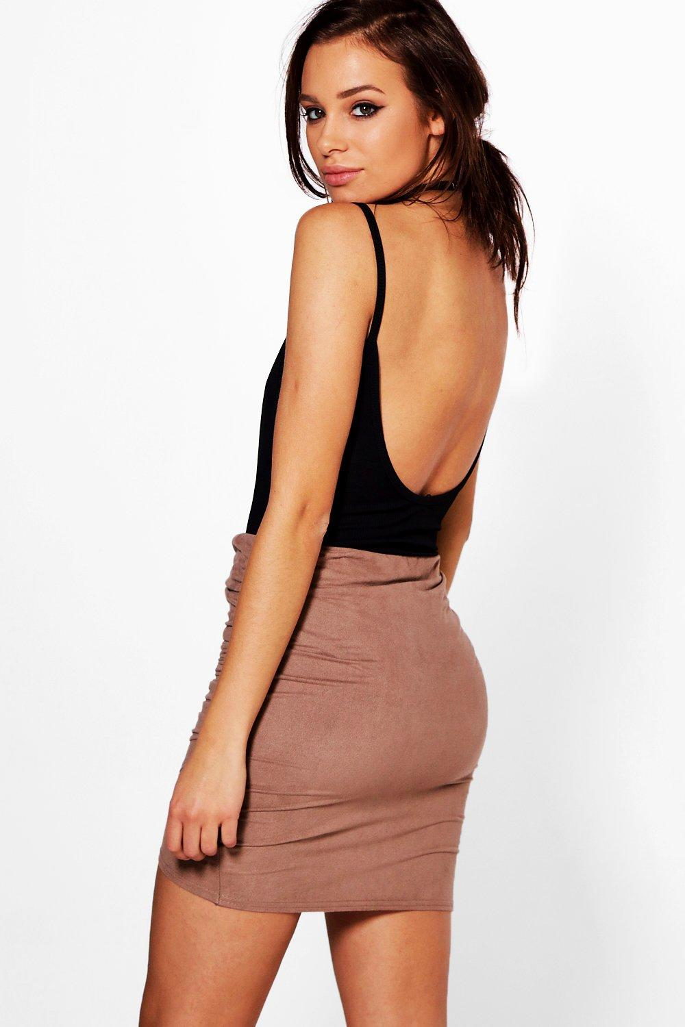 A petite skirt adds sophistication to any outfit. Try a knee-length pencil skirt and pair of women's pumps for an important interview or work meeting. The hemline falls at just the right length to flatter the silhouette, so you'll feel even more confident.