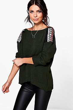 Alex Embellished Shoulder Jumper