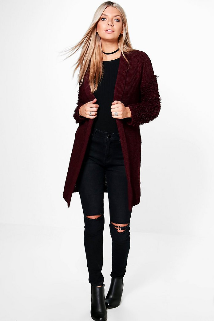 Abbie Textured Sleeve Cardigan