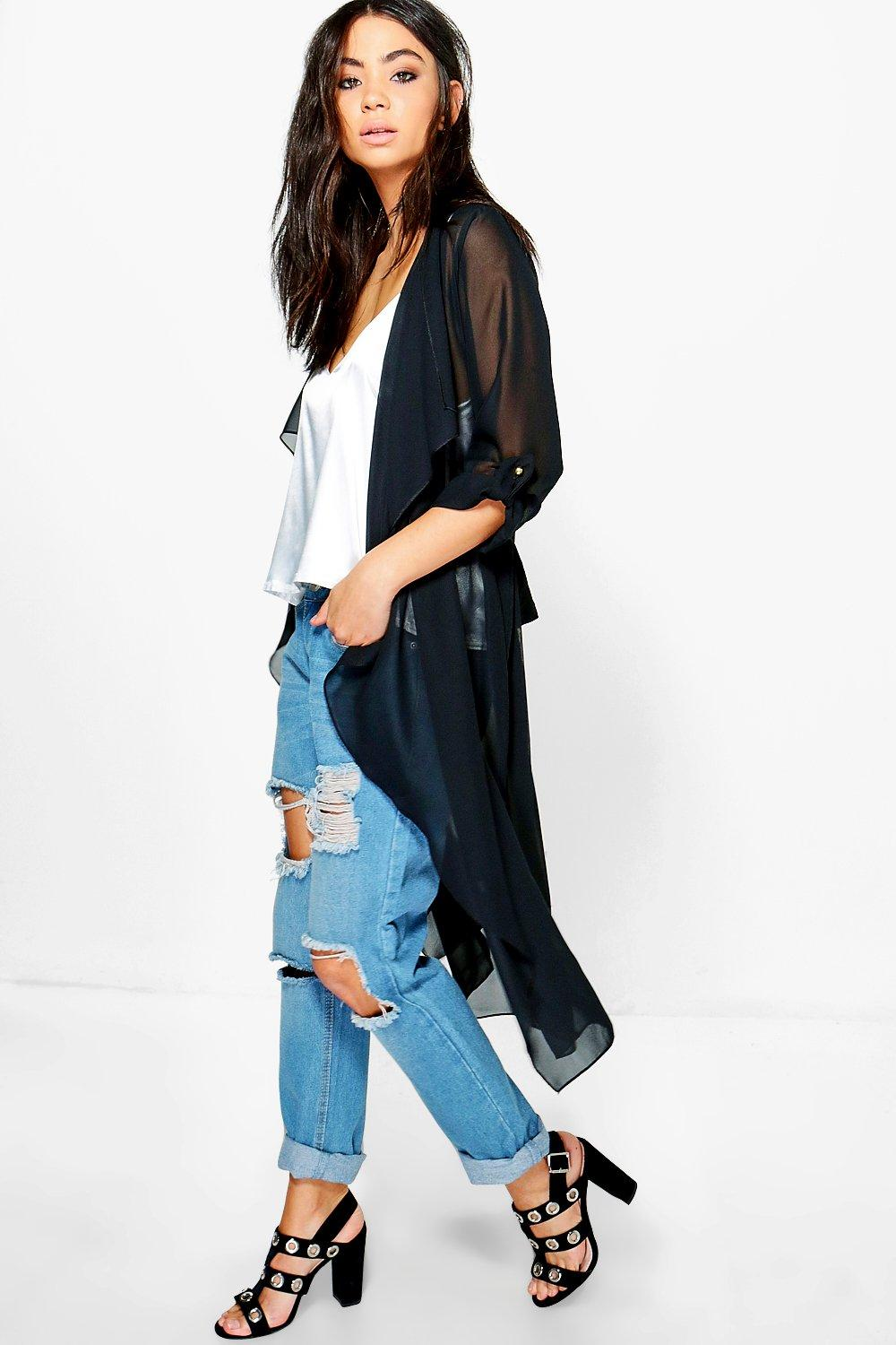Libby Chiffon Waterfall Duster