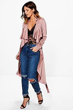 Alexis Slinky Waterfall Belted Trench