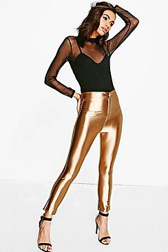Ava High Waist Super Skinny 3/4 Disco Trousers