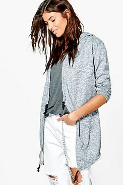 Amy Brushed Knit Hooded Jacket