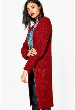 Jess Soft Knit Marl Cable Cardigan