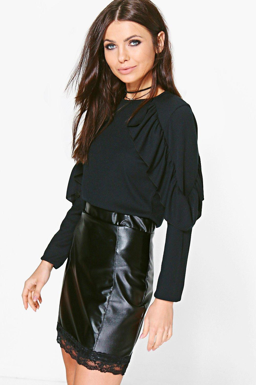 Faye Double Ruffle Sleeve Top