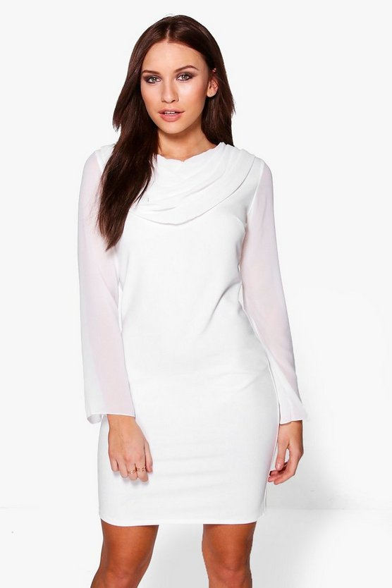 Tatiana Drape Front Shift Dress