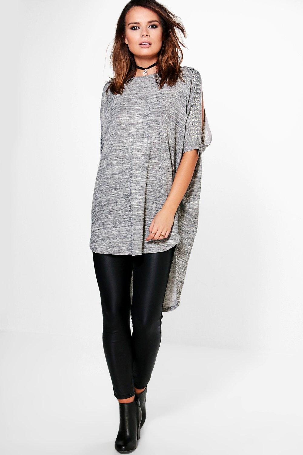 Emily Embellished Cold Shoulder Jumper