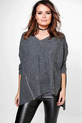 Alice Asymmetric Zip Detail Jumper