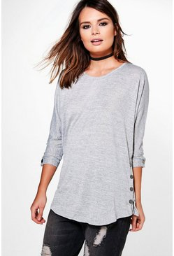Bethany Button Detail Oversized Jumper