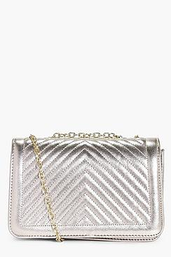 Laura Quilted Metallic Cross Body Bag