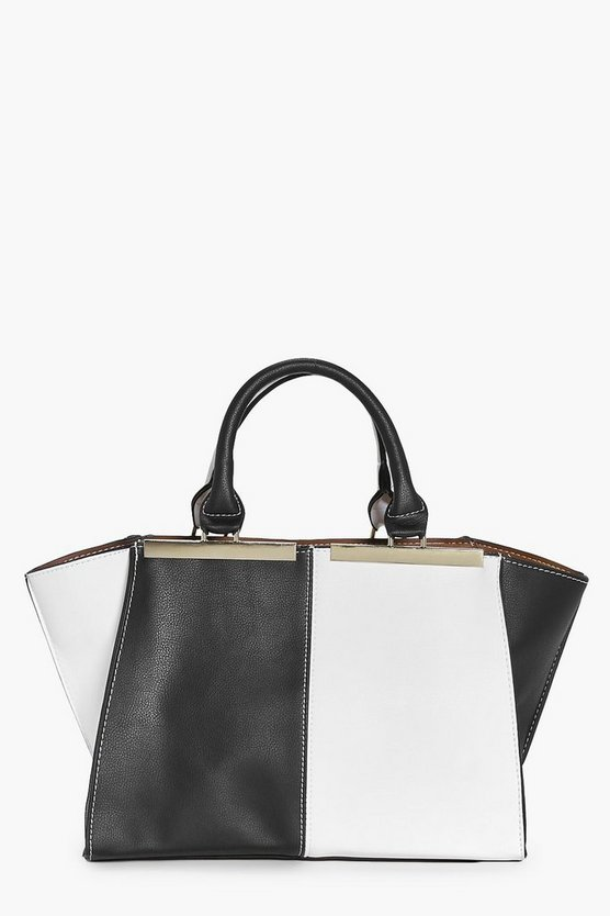 Faye Colour Block Metal Detail Day bag