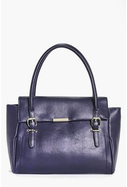 Ruby Structured Metal Detail Day Bag