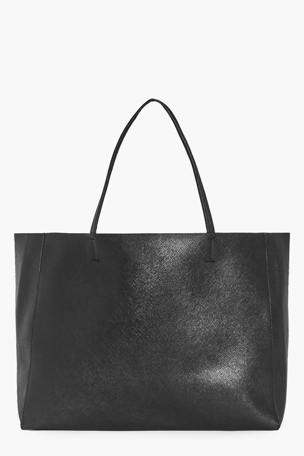 Oversize Unlined Shopper Holdall - black - Laura O