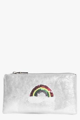 Julia Rainbow Badge Metallic Purse