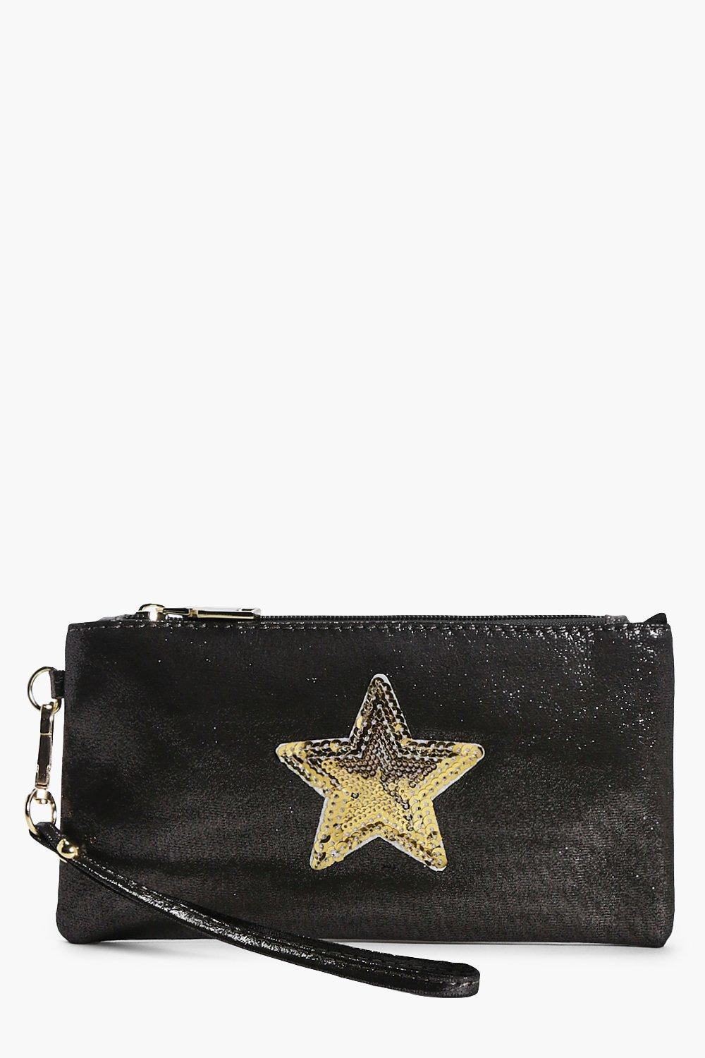 Lilly Star Badge Metallic Purse