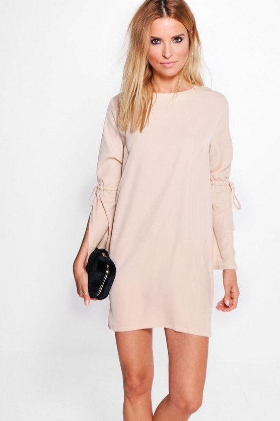 Mona Tie Sleeve Shift Dress