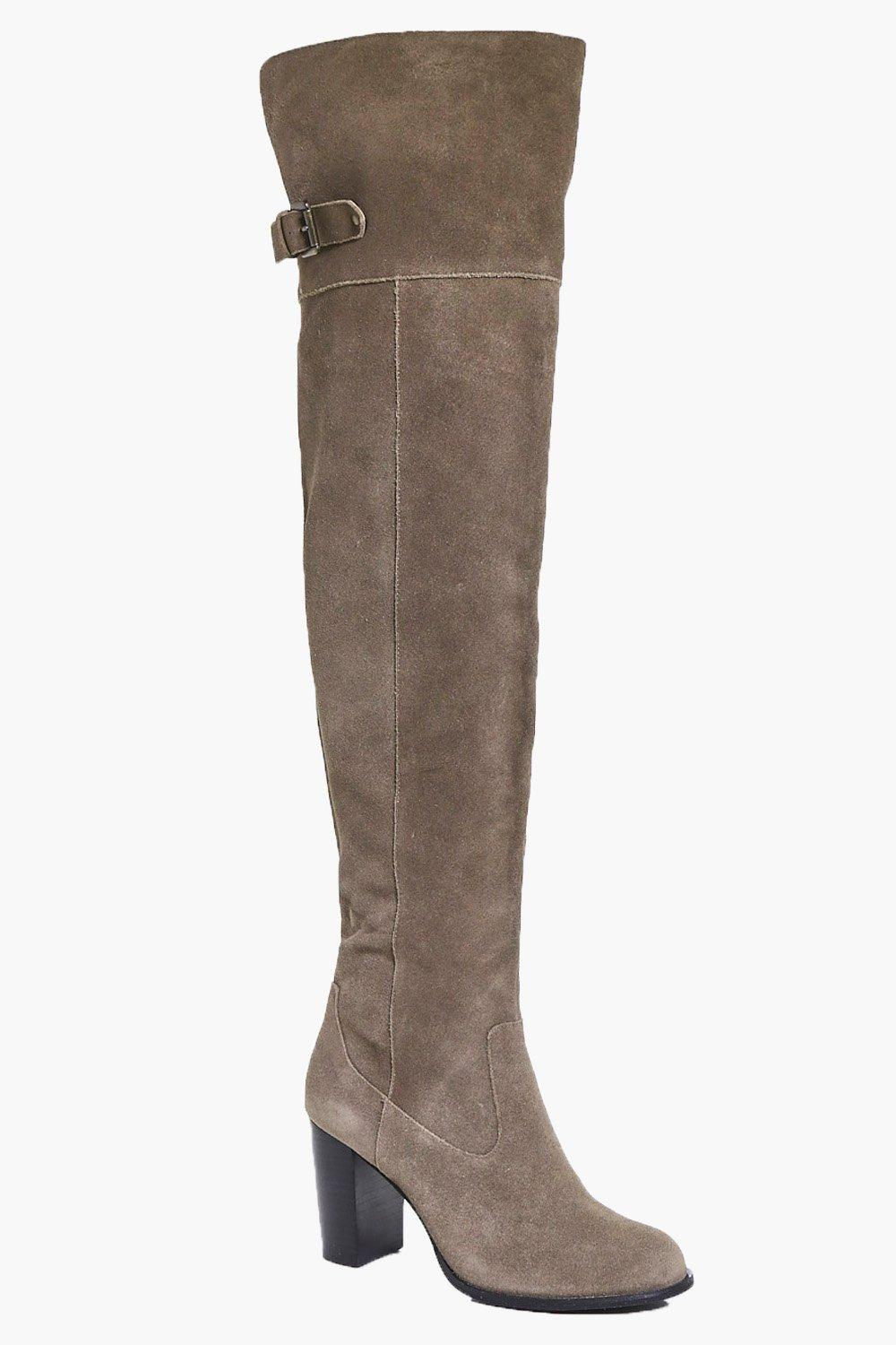 Eve Boutique Suede Over The Knee Boot