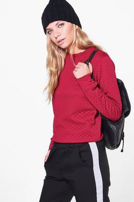 Monica Quilted Long Sleeve Sweatshirt