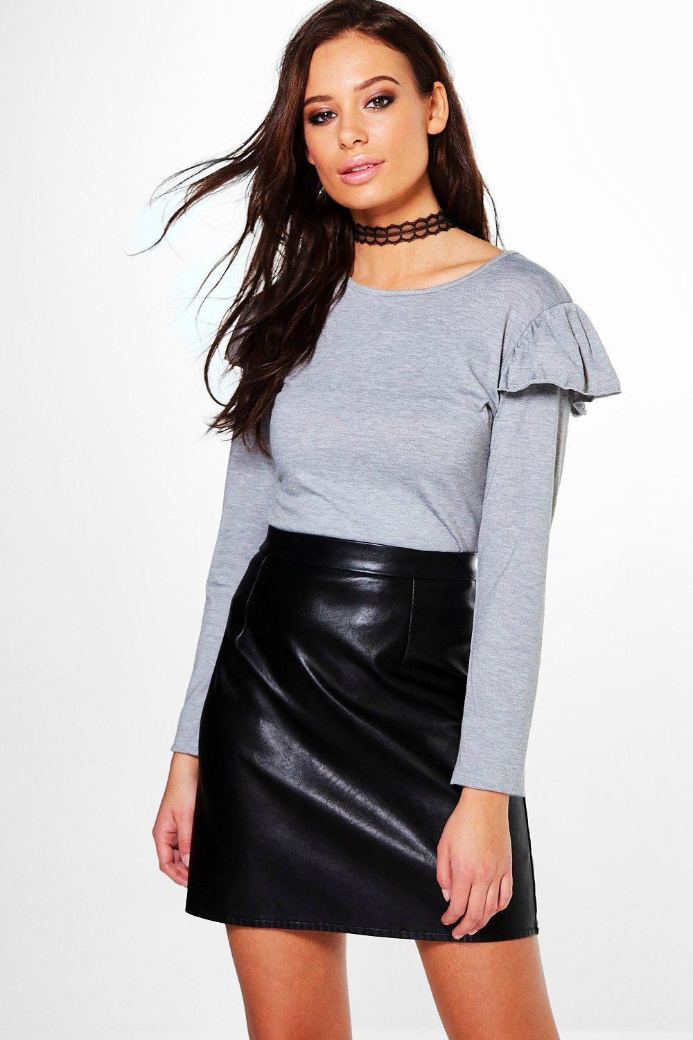 Liliah Frill Sleeve Long Sleeve Top