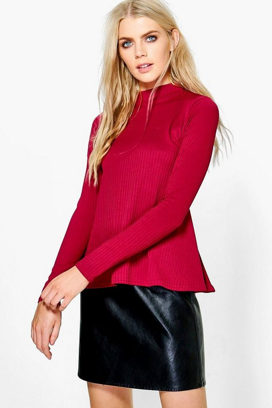 Sophie High Neck Flared Top