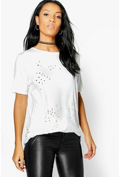 Dora Star Lazer Cut Out T-Shirt