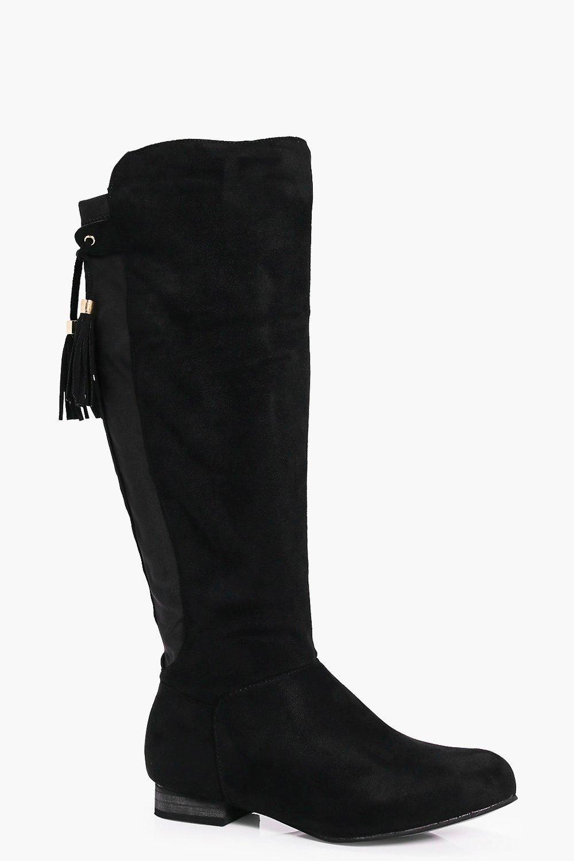Megan Flat Tassel Tie Knee Boot