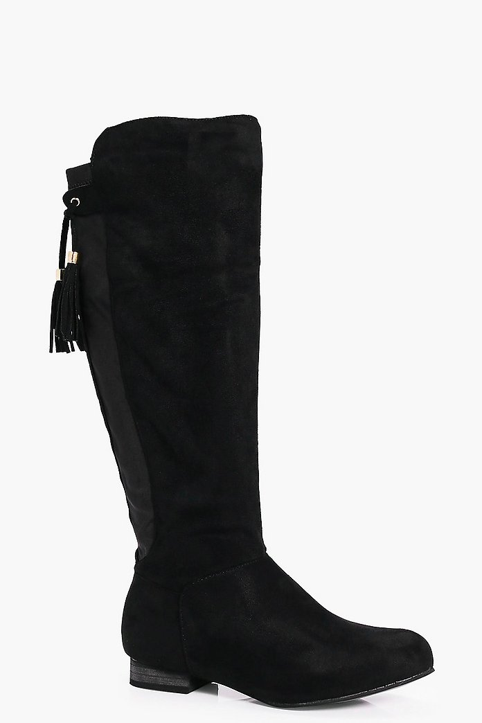 Megan Flat Tassel Tie Knee Boot