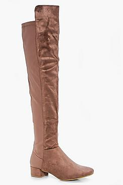 Jess Block Heel Thigh High Boot