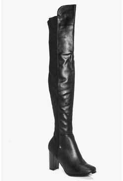 Ruby Block Heel Thigh High Boot