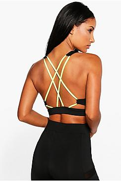 Ava Fit Strappy Back Sports Bra