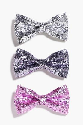 Mae Sequin Bow Hair Clip 3 Pack