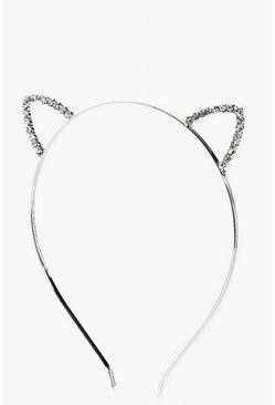 Felicity Small Diamante Cat Ear Headband