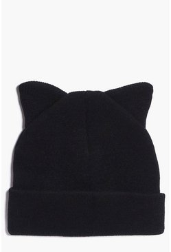Elena Cat Ears Knitted Beanie