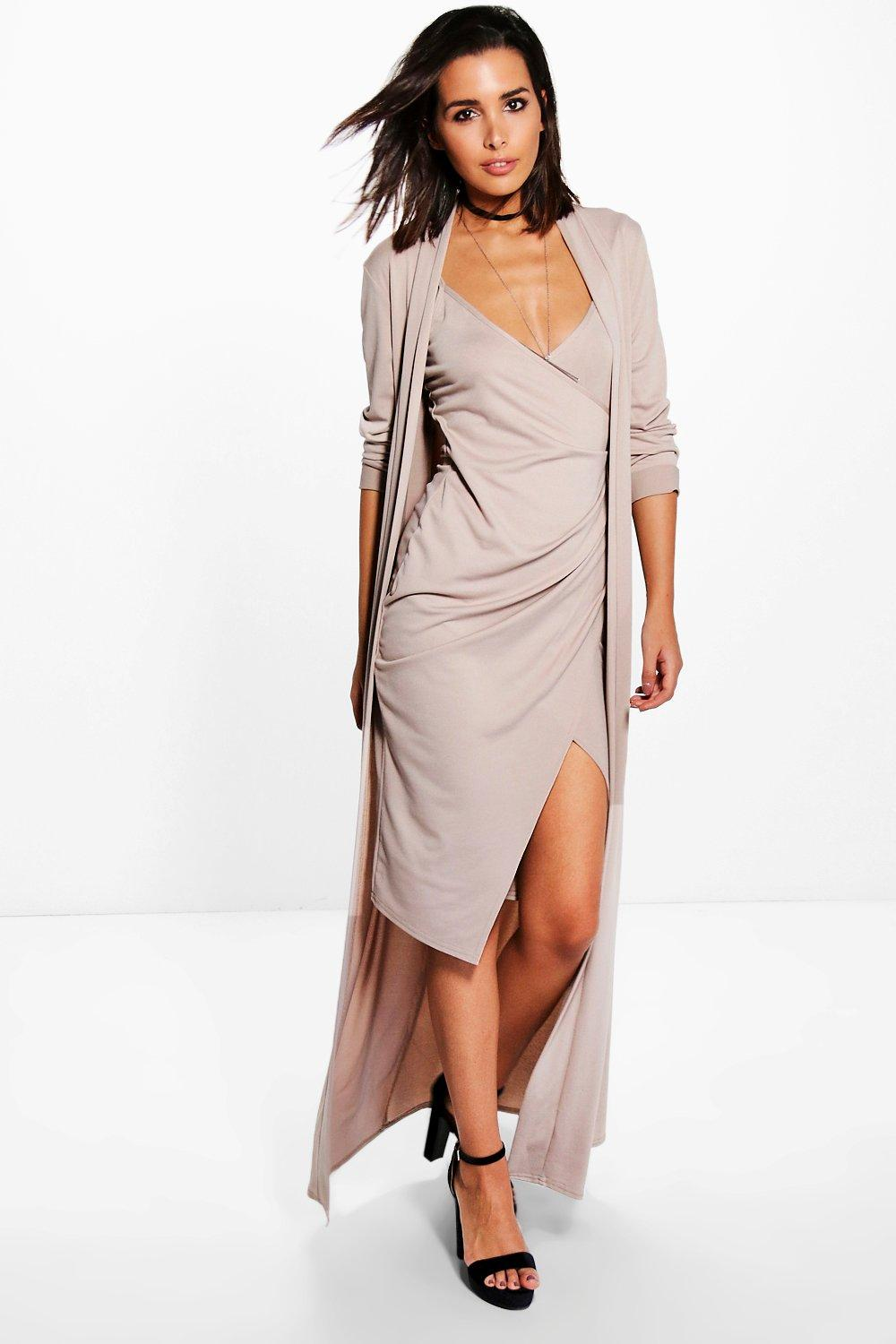 Isla Texture Wrap Midi Dress Co-ord