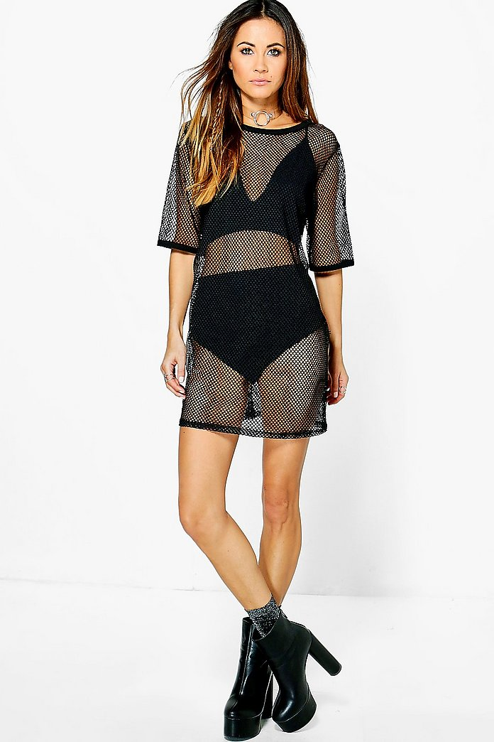 Sophia 3PC Mesh Dress Bralet Short Co-Ord