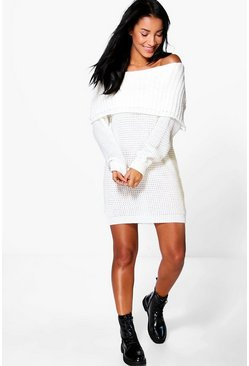 Zoey Bardot Mini Knitted Dress